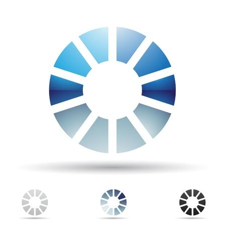 ilustración de los iconos abstractos sobre la base de la letra O