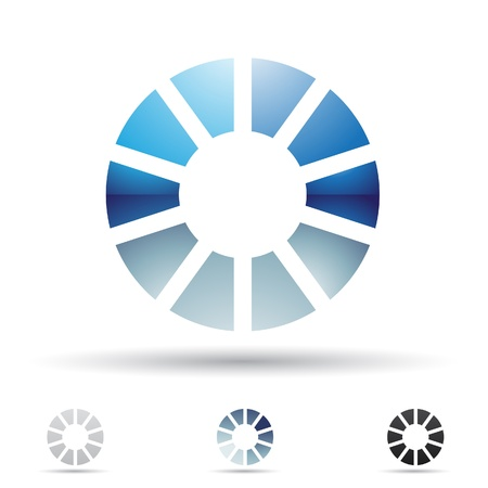 O の文字に基づいて抽象的なアイコンの図  イラスト・ベクター素材