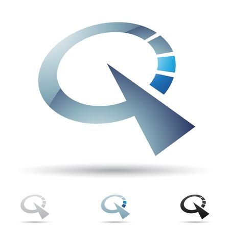 ilustración de los iconos abstractos basados ??en la letra Q