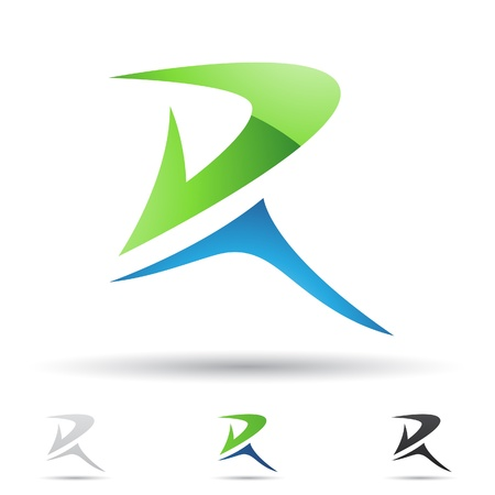 logo company:  illustration of abstract icons based on the letter R Illustration