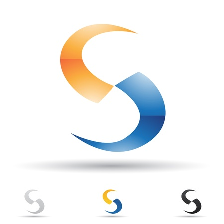 illustration of abstract icons based on the letter S Vector
