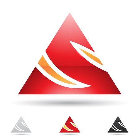 letra s: ilustraci�n de los iconos abstractos sobre la base de la letra S