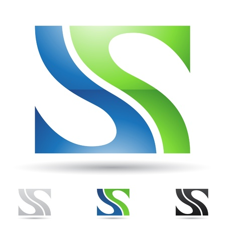 lettre s: illustration des icônes abstraites fondée sur la lettre S Illustration