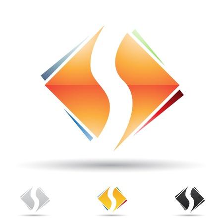 S の文字に基づいて抽象的なアイコンの図  イラスト・ベクター素材