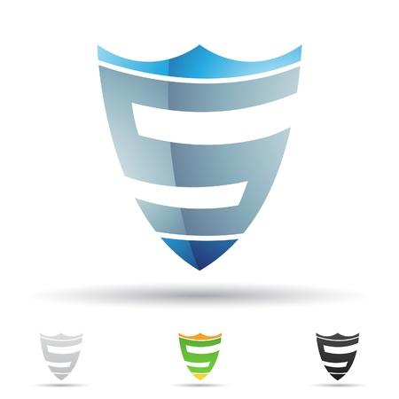 lettre s: illustration des icônes abstraites sur la base de la lettre S