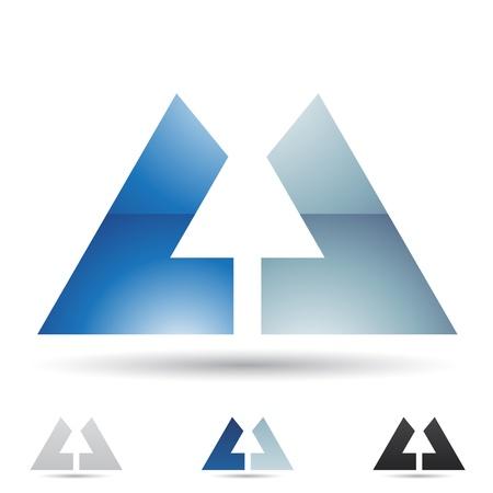 illustratie van abstracte iconen gebaseerd op de letter U