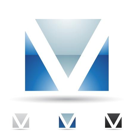 icons logo: Illustration der abstrakten Symbole auf der Basis von Buchstaben V