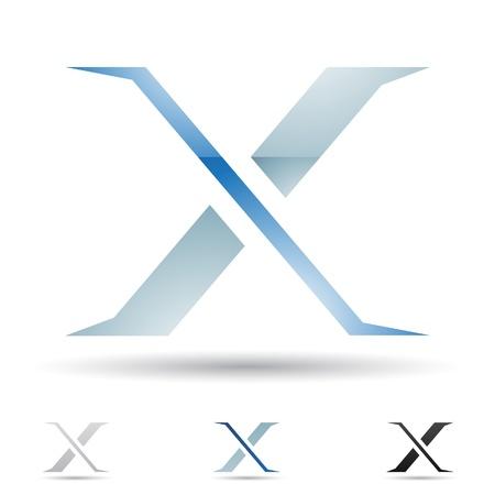 letras negras: ilustraci�n de los iconos abstractos basados ??en la letra X