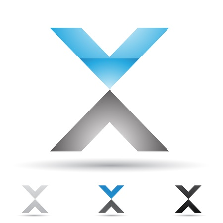 letter x:  illustration of abstract icons based on the letter X