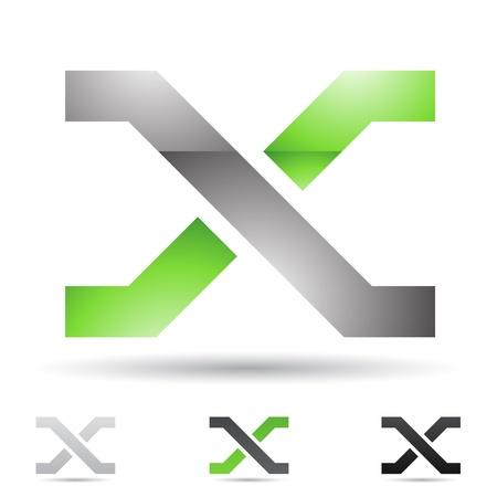 illustratie van abstracte iconen gebaseerd op de letter X