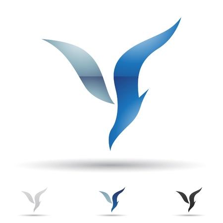 illustratie van abstracte iconen gebaseerd op de letter Y