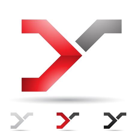 szynach: Ilustracja abstrakcyjne ikony opiera siÄ™ na literÄ™ Y