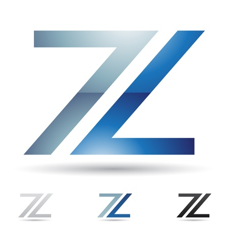letter a z: illustration of abstract icons based on the letter Z