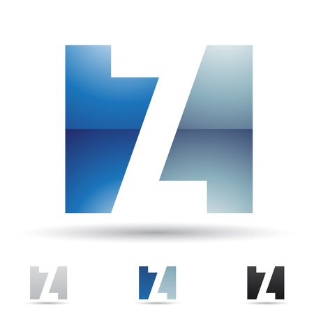 letter a z:  illustration of abstract icons based on the letter Z Illustration