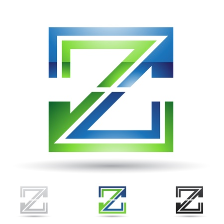 illustration of abstract icons based on the letter Z Illustration