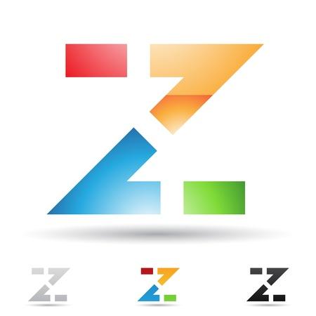 illustratie van abstracte pictogrammen op basis van de letter Z Vector Illustratie