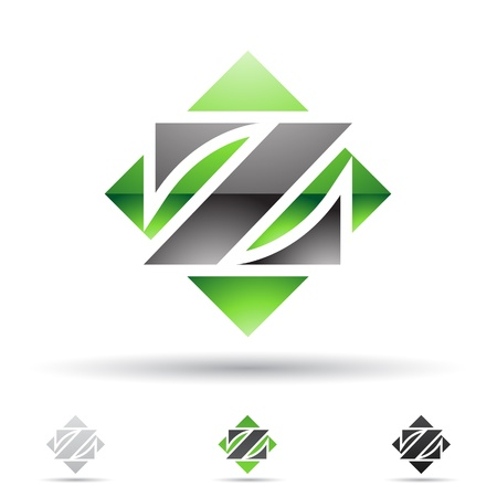 illustration of abstract icons based on the letter Z Vector