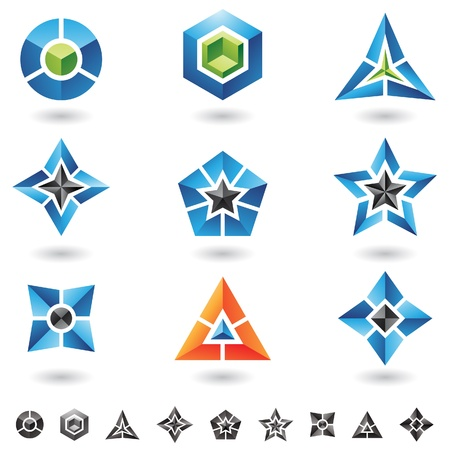 cubes, stars, pyramids and lots of 3d geometrical shapes Vector