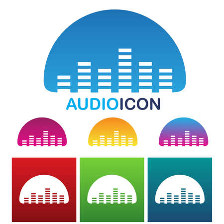 illustration of colorful audio equalizer icon Stock Vector - 22029184