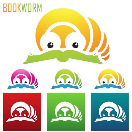 gusano caricatura: Ilustración del libro Iconos del gusano