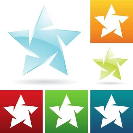 illustration of ice star icons Vector