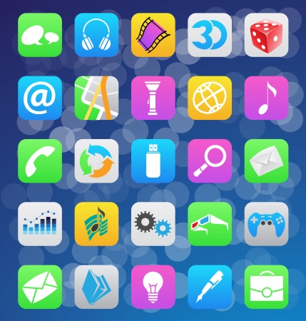 operating system: mobile app icons