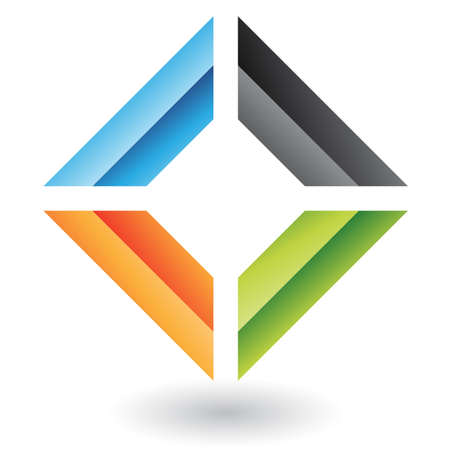 quadrati astratti: Rettangolare e quadrata astratta dell'icona