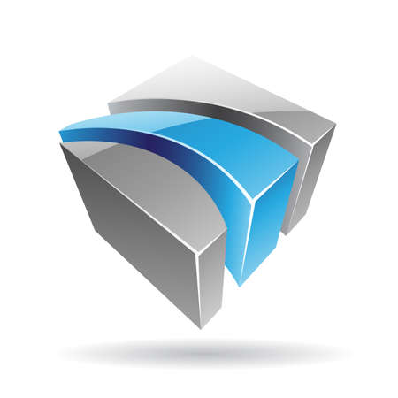 company name: Colorful 3d Cubical Abstract Icon Illustration