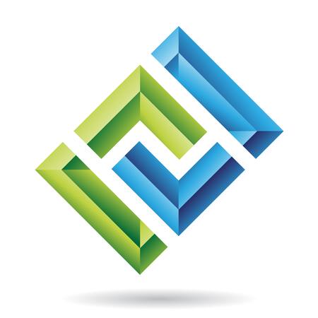 quadrati astratti: Rettangolari e quadrati astratta dell'icona