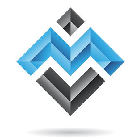 Rechthoekige en vierkante abstract pictogram