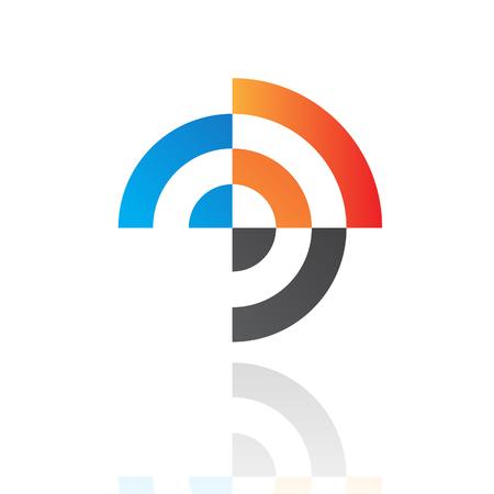 ziel icon: Bunte abstrakte Ziel Icon Illustration