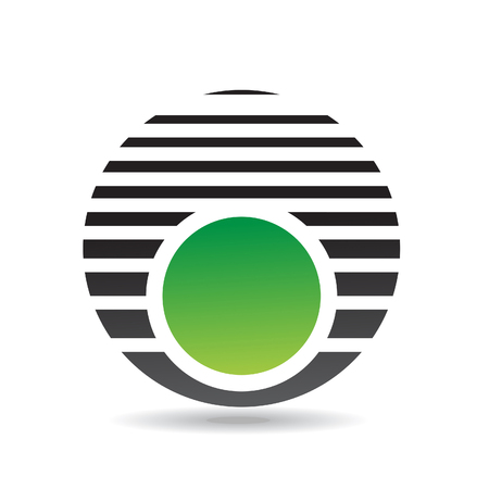 company name: Colorful Abstract Round Icon Illustration