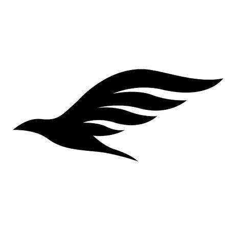 Illustratie van Black Bird pictogram geïsoleerd op een witte achtergrond