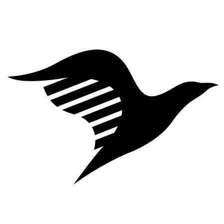 Illustration of Black Bird Icon isolated on a white background Vector