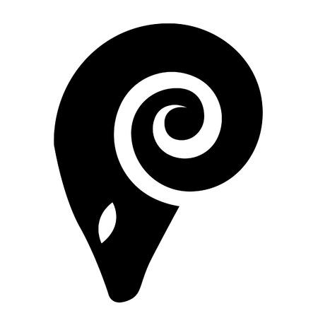 aries: Illustrazione di Black Ram Icon isolato su uno sfondo bianco