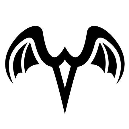 airways: Illustration of Black Bird Icon isolated on a white background