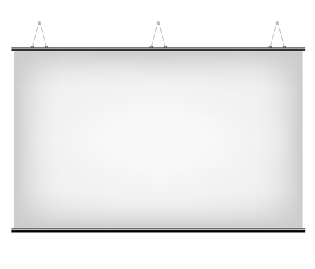 blank banner: Illustration of White Promotional Canvas Banner isolated on a white background