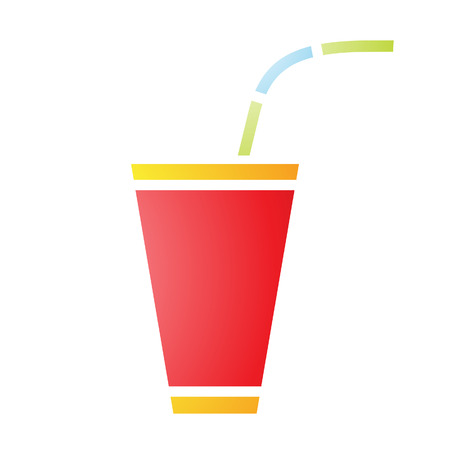fizzy: Illustration of Soft Fizzy Drink Icon isolated on a white background