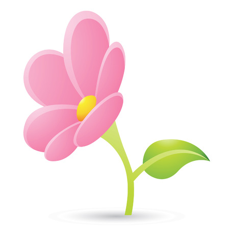 Illustration of Pink Flower Icon isolated on a white background Stock Vector - 23638261