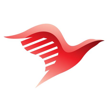 adler silhouette: Illustration von Red Bird-Symbol auf einem weißen Hintergrund Illustration