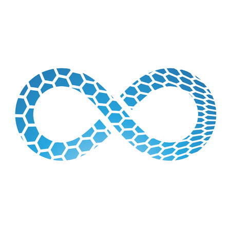 mobius strip: Illustration of Infinity Symbol Design isolated on a white background Illustration