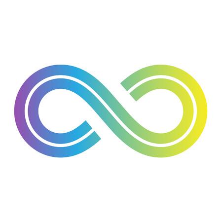 Illustratie van Symbool van de oneindigheid ontwerp geïsoleerd op een witte achtergrond