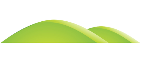 grassy: Illustration of Green Hills Cartoon isolated on a white background