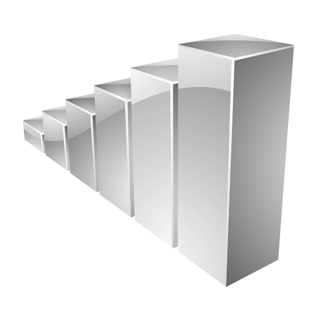 stat: Illustration of Grey Glossy Stat Bars isolated on a white background