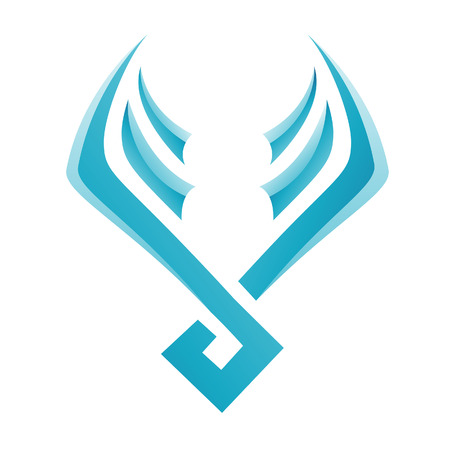 airway: Illustration of Blue Bird Icon isolated on a white background Illustration
