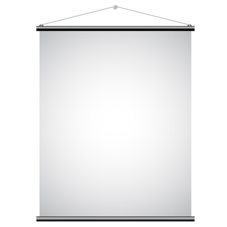 Illustration of White Promotional Canvas Banner isolated on a white background Vector