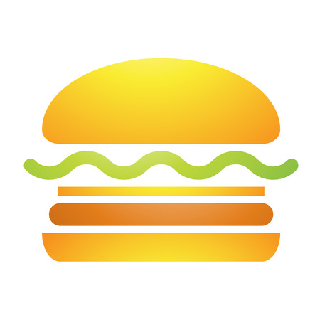 burger bun: Illustration of Fast Food Burger Icon isolated on a white background