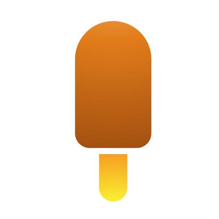 ice cream stick: Ilustraci�n de helado de palo aislado en un fondo blanco Vectores