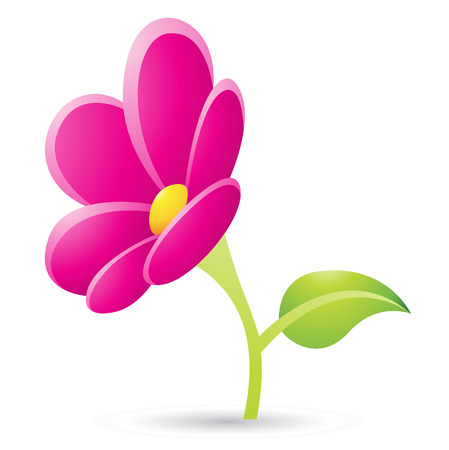 Illustration of Magenta Flower Icon isolated on a white background Stock Vector - 23638056