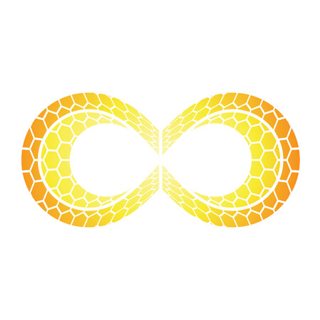 Illustration of Infinity Symbol Design isolated on a white background Vector
